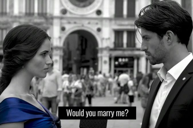 Engagement proposal in Venice